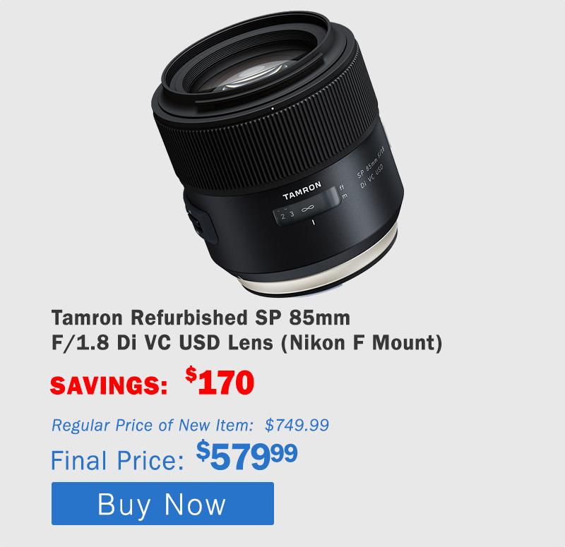Tamron 85mm F/1.8 Nikon Mount