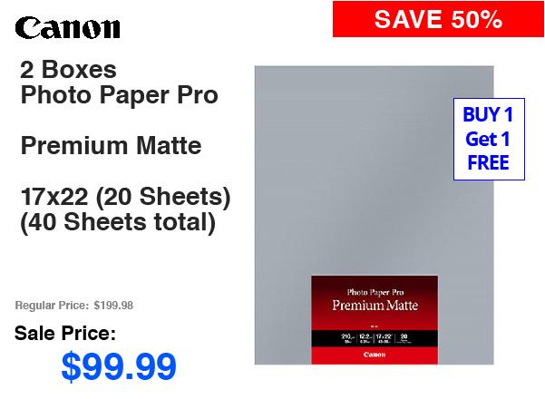 Canon 2 Boxes Premium Matte