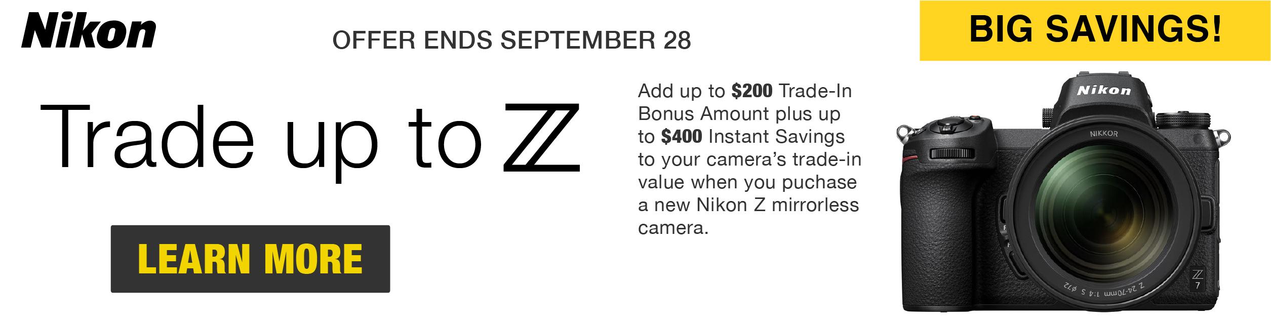 Nikon Trade up to Z