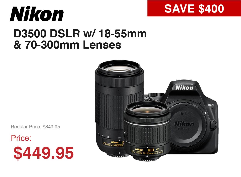 Nikon D3500 Kit --- 2 Lens
