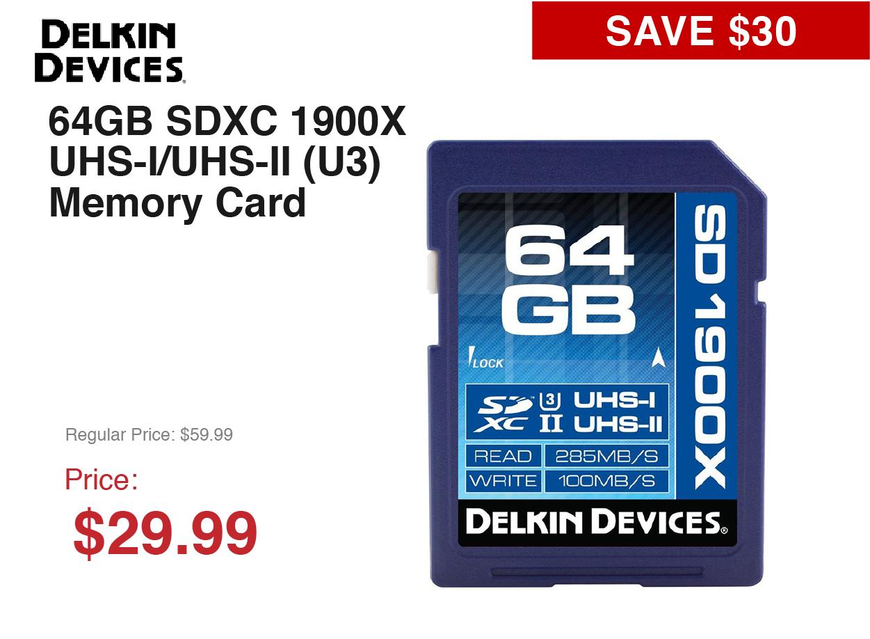 Delkin Memory -- 64GB