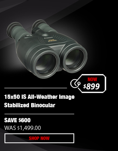 Canon 15x50 IS All-Weather Image Stabilized Binocular