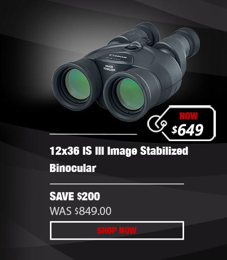 Canon 12x36 IS III Image Stabilized Binocular