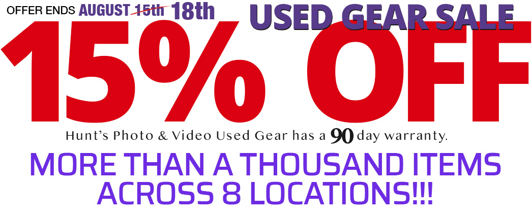 Used Gear Sale -- 15% OFF. Gear Available Online or see it in our Melrose Store.