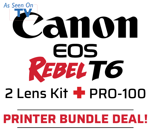 Canon T6 2 Lens Kit Plus Pro-100
