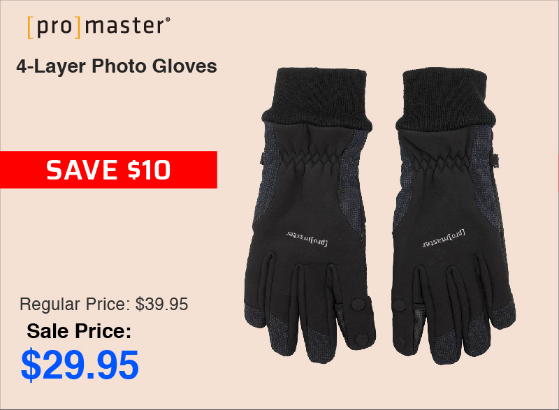 Promaster 4-Layer Photo Gloves