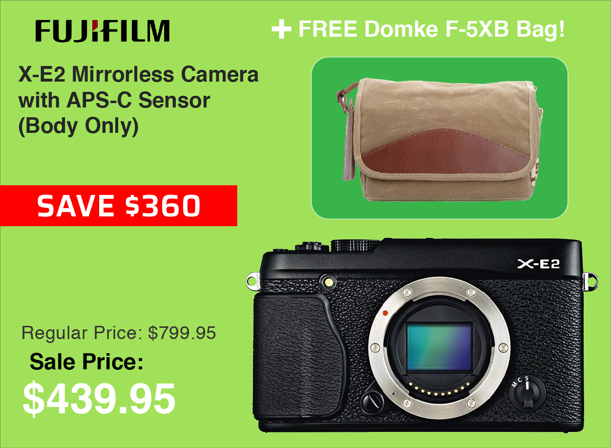 Fujifilm X-E2 Camera with Free Domke F-5XB Bag