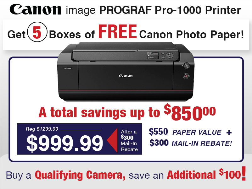 Canon image PROGRAF Pro-1000 Printer Deal