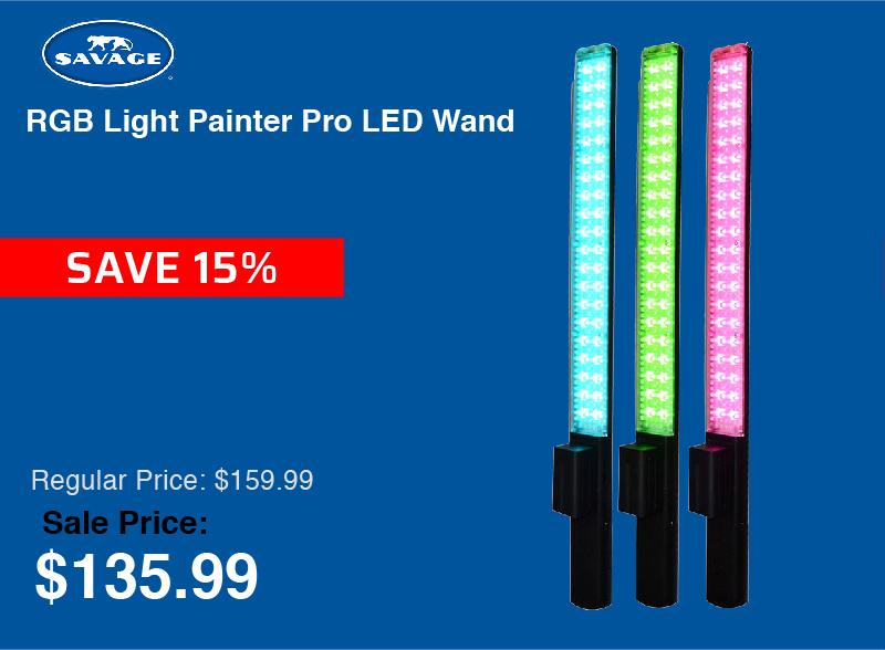 Savage RGB Light Painter Pro LED Wand