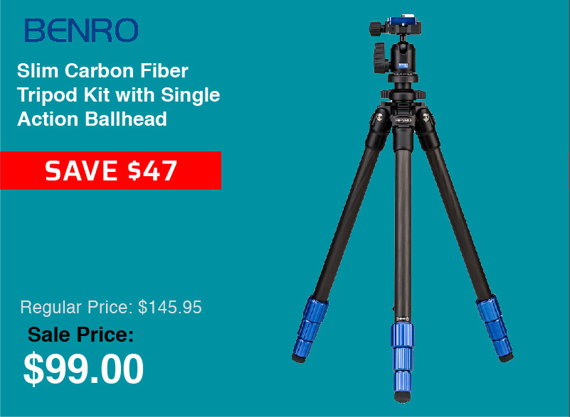 Benro Slim Carbon Fiber Tripod Kit