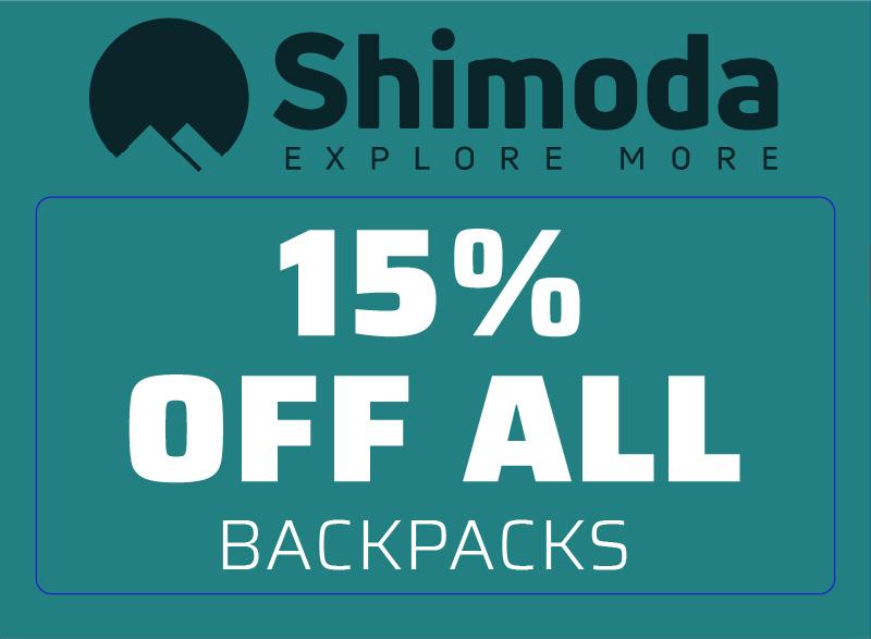 Shimoda 15% OFF ALL Backpacks