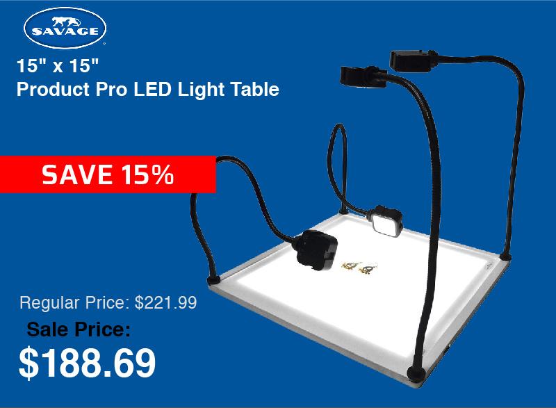 Savage 15x15 Pro LED Light Table