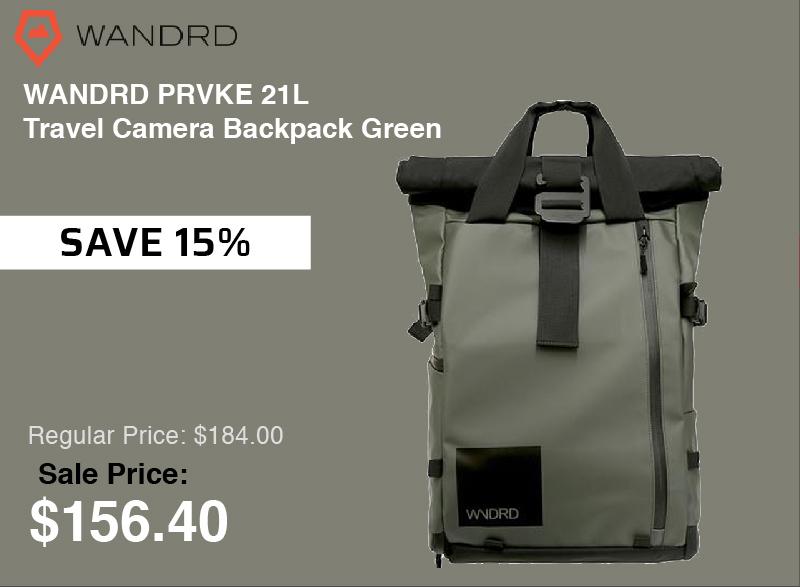 Wandrd 21 Liter Travel Camera Backpack Green