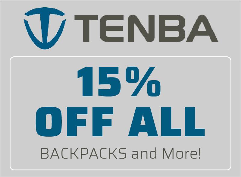 Tenba 15% Off All
