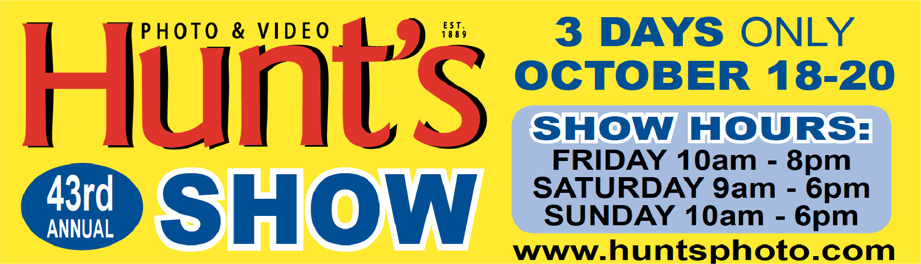 Join Us October 18th 19th 20th for the 43rd Annual Show & Sale!