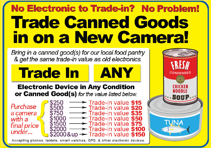 Trade in Canned Goods towards a new Camera