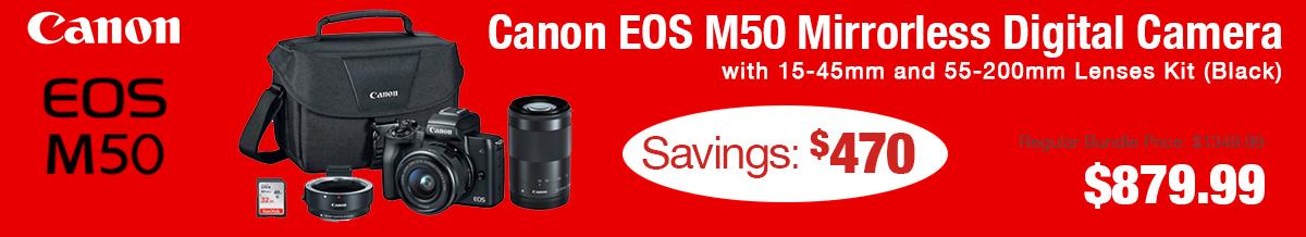Canon M50 Double Lens Kit