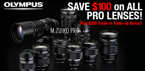 Olympus Pro Lenses on Sale