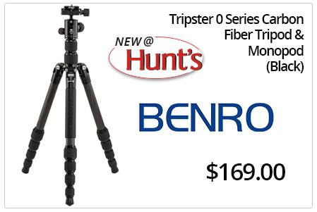 Benro Tripster 0 Series Carbon Fiber Tripod & Monopod - Black.