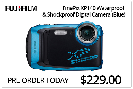 Fujifilm XP140 Waterproof & Shockproof Digital Camera - Blue