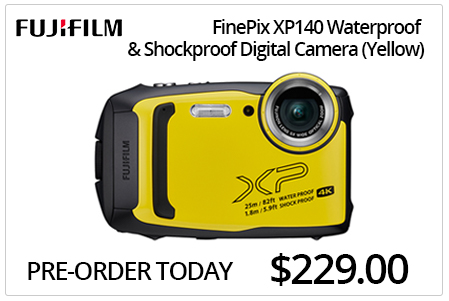 Fujifilm XP140 Waterproof & Shockproof Digital Camera - Yellow