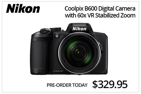 Nikon Coolpix B600 Digital Camera w/ 60X VR Stabilized Zoom