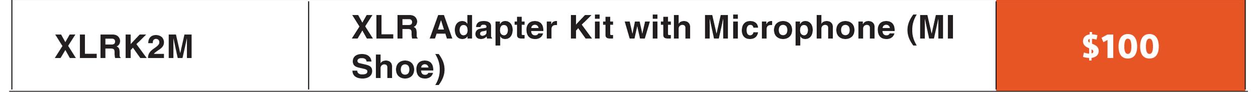Sony XLR-K2M Adapter Kit