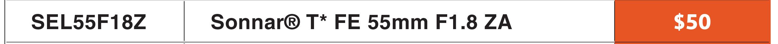 Sony FE 55mm