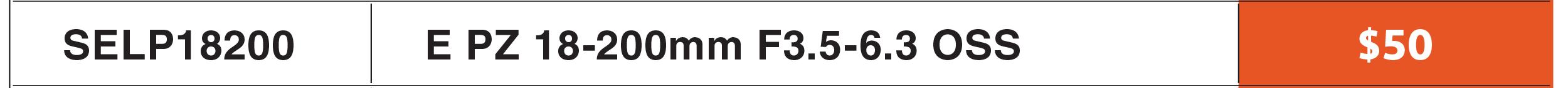 Sony E PZ 18-200mm