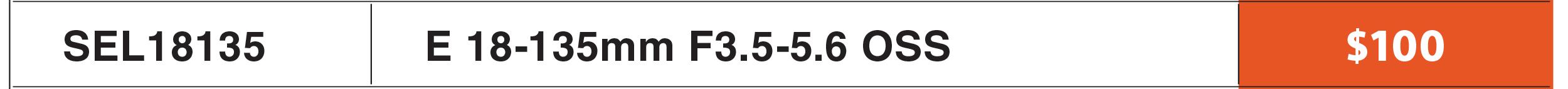 Sony E 18-135mm OSS