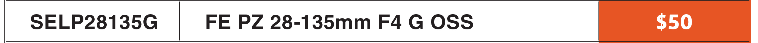 Sony FE PZ 28-135mm f/4 G