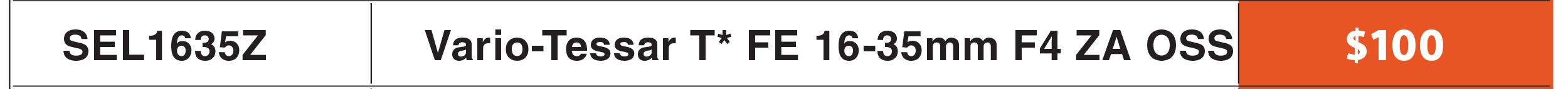 Sony FE 16-35mm f/4
