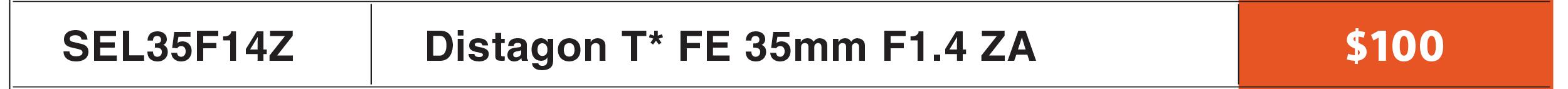 Sony FE 35mm f/1.4