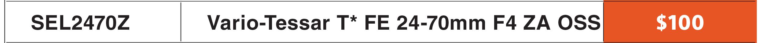Sony FE 24-70mm ZA OSS