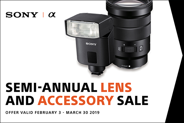 Sony Semi-Annual Lens & Accessory Sale