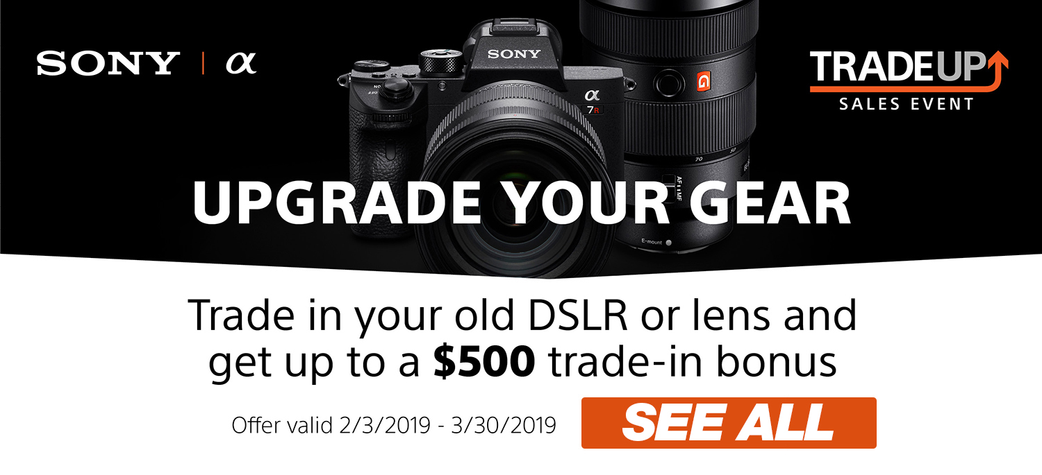 Upgrade Your Gear by Trading in your old DSLR or lens!