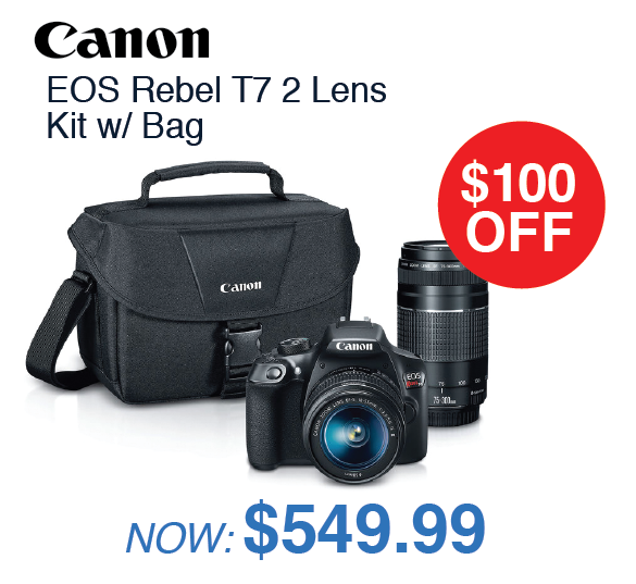 Canon EOS Rebel T7 2 Lens Kit with Bag
