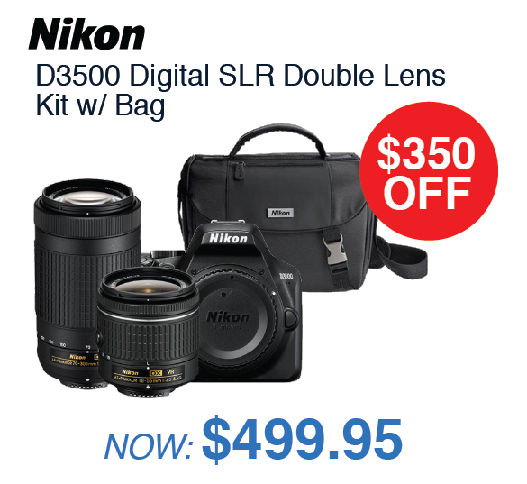 Nikon D3500 Double Lens Kit with Bag