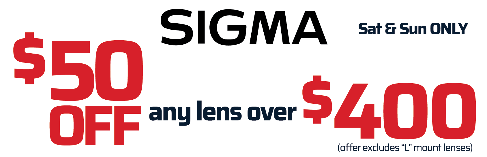 Sigma Lens Savings