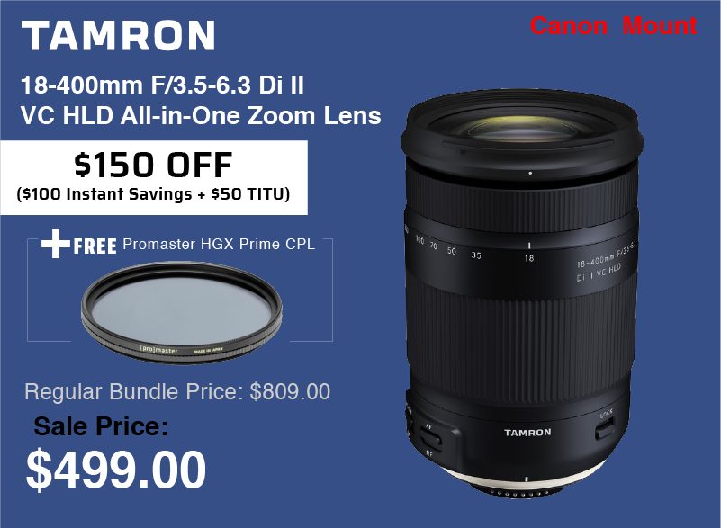 Tamron 18-400mm with Filter