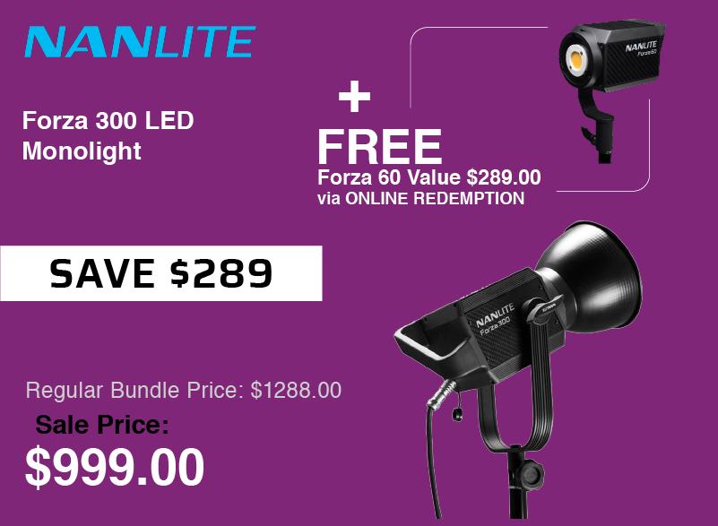 Nanlite Forza 300 LED plus Forza 60