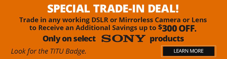 Special Sony Trade!