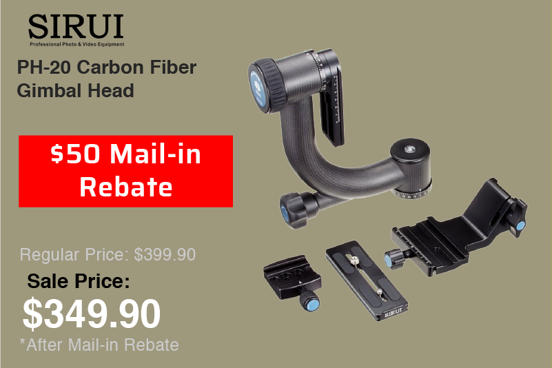 Sirui PH-20 Carbon Fiber Gimbal Head