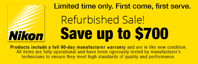 Nikon Refurbished Sale