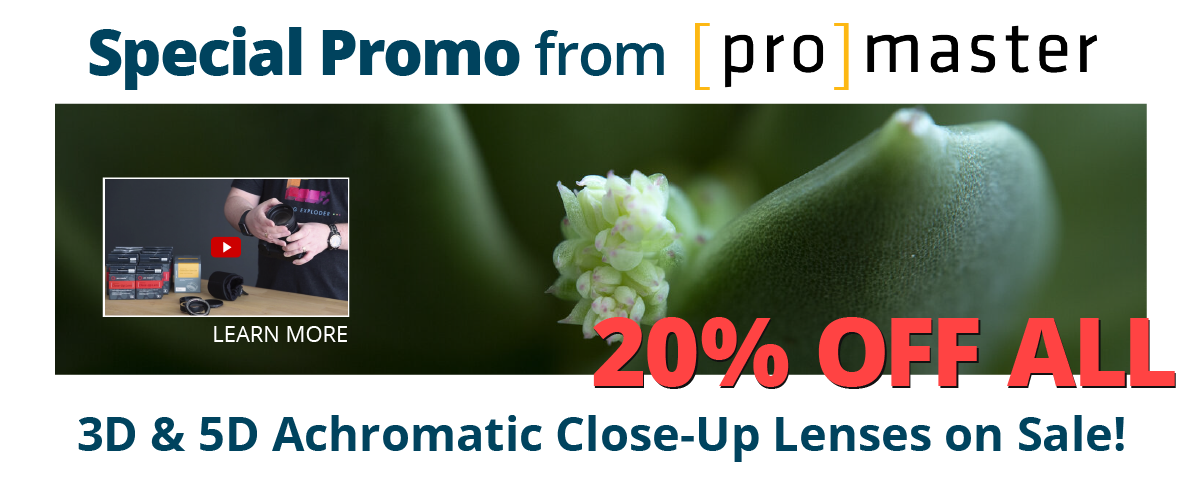 Promaster Achromatic Close up lenses