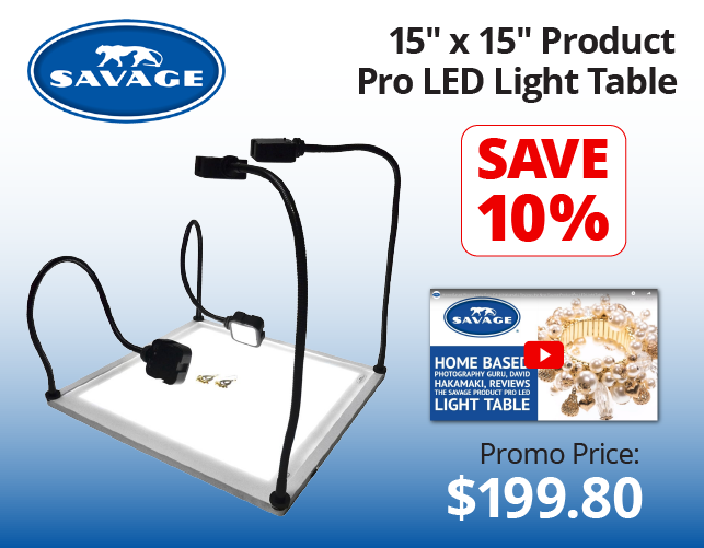 Savage 15x15 LED Table