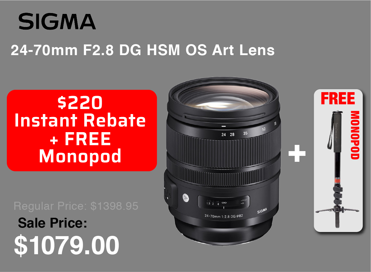 Sigma 24-70mm with Free Monopod