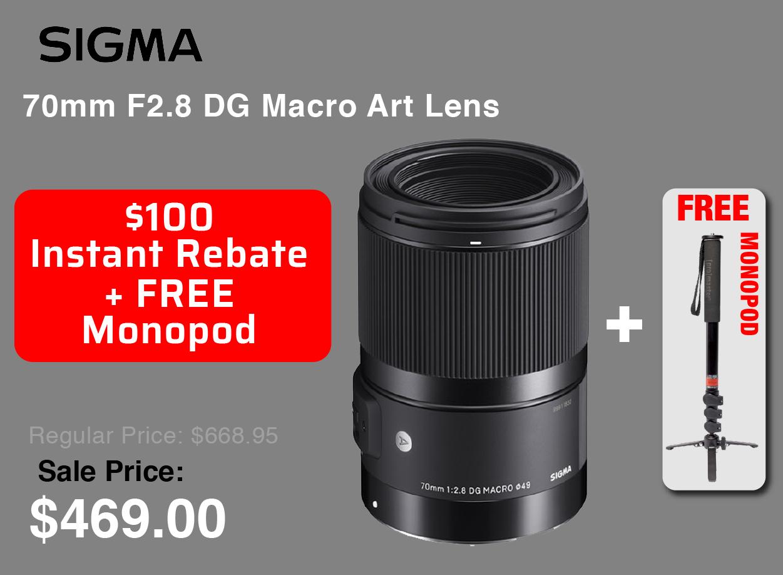 Sigma 70mm with Free Monopod