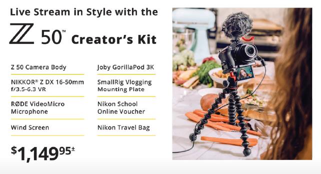 Nikon Z50 Creator Kit