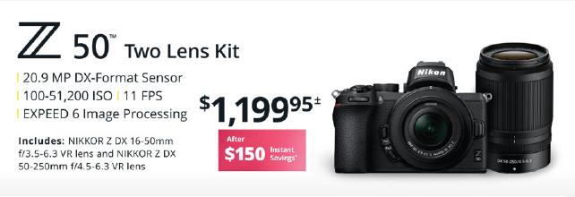Nikon Z50 2 Lens Kit